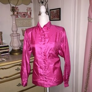 Tops - Ashleigh Morgan | Vintage Hot Pink Button Up